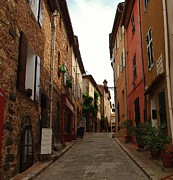 Provence Village Framed Prints - Narrow street in Provence Framed Print by Dany Lison