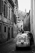 Trastevere Framed Prints - Narrow street in Trastavere Rome Lazio Italy Framed Print by Joe Fox