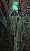 Street Lamp Framed Prints - Narrow Street Framed Print by Jasna Buncic