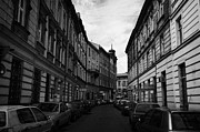 Kazimierz Art - Narrow Street With On Street Both Sides Parking In Krakow by Joe Fox