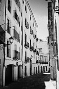 Narrow Streets Prints - Narrow Streets In The Old Roman Town Of Tarragona Catalonia Spain Print by Joe Fox
