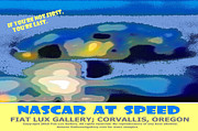 Nascar Digital Art Prints - NASCAR at Speed Print by Mike Moore FIAT LUX