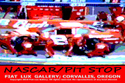 Nascar Digital Art Prints - NASCAR Pit Stop Print by Mike Moore FIAT LUX