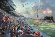 Kinkade Prints - NASCAR THUNDER Talladega-thomas kinkade Print by Thomas kinkade Collector