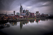 Nashville Skyline Photos - Nashville at Dusk by Elizabeth Wilson
