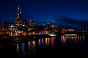 Nashville Skyline Photos - Nashville at Night by Jim Davenport