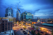 Nashville Skyline Photos - Nashville at Night by Malcolm MacGregor