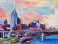 Buildings In Nashville Paintings - Nashville in Pastel by Wendi Strauch Mahoney