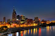 Nashville Lit Up Print by Zachary Cox
