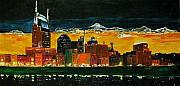 Nashville Night Print by Vickie Warner