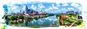 Nashville Skyline Photos - Nashville Postcard by Cilene Bosch