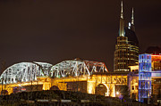 Nashville Skyline Photos - Nashville Skyline At Night by John Zocco