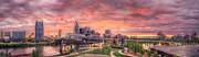 Nashville Skyline Photos - Nashville Skyline at Sunset by Malcolm MacGregor
