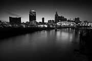 Nashville Skyline Photos - Nashville Skyline Black and White by John Magyar Photography