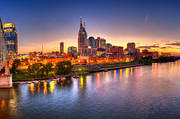 Cumberland River Framed Prints - Nashville Skyline Framed Print by Brett Engle