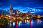 Nashville Park Framed Prints - Nashville Skyline Framed Print by Dan Holland