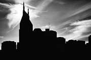 Nashville Skyline Art - Nashville Skyline in Silhouette by Jeff Holbrook