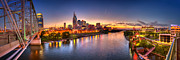Nashville Skyline Art - Nashville skyline panorama 2 by Brett Engle