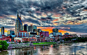 Nashville Skyline Photos - Nashville Sunset by Dan Holland