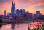 Tennessee Posters Originals - Nashville Sunset by Sue Karski