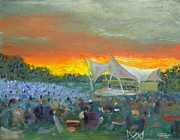 Nashville Park Paintings - Nashville Symphony at Crockett Park by Tommy Thompson