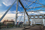 Nashville Tennessee Art - Nashville Tennessee Pedestrian Bridge Day by John McGraw
