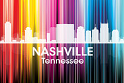 Downtown Nashville Metal Prints - Nashville TN 2 Metal Print by Angelina Vick