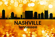 Downtown Nashville Framed Prints - Nashville TN 3 Framed Print by Angelina Vick