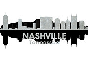 Downtown Nashville Framed Prints - Nashville TN 4 Framed Print by Angelina Vick