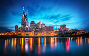 Cumberland River Framed Prints - Nashville Twilight Framed Print by Lucas Foley