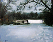 Nashville Painting Originals - Nashvilles Winter Morning by Erin Rickelton