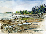 Maine Shore Painting Originals - Naskeag Point by Jim Norman