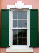 Glazing Framed Prints - Nassau Window Framed Print by Randall Weidner
