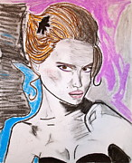 Movie Star Pastels Prints - Natalie Print by C Alexia