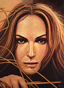 Actor Posters - Natalie Portman Poster by Paul  Meijering