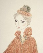 Fashion Illustration Pastels Posters - Natasha Poster by Christine Corretti