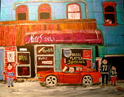 Brunch Paintings - Nates Deli Ottawa by Michael Litvack