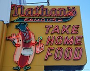 Brooklyn Usa Digital Art Prints - Nathans Famous Print by Rob Hans