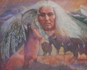 Sacred White Buffalo Posters - Nation Of Peace Poster by Pamela Mccabe