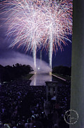 4th July Digital Art Posters - National Mall Fireworks Poster by John Jack