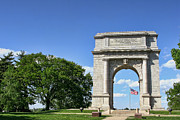 Valley Metal Prints - National Memorial Arch at Valley Forge Metal Print by Olivier Le Queinec
