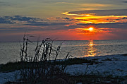 Fort Walton Beach Tapestries Textiles Acrylic Prints - National Seashore Sunrise Acrylic Print by Noel Pennington