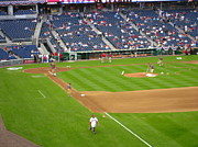 Nationals Baseball Framed Prints - Nationals Park - 01136 Framed Print by DC Photographer