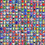 Differences Posters - Nations united Poster by Antony McAulay