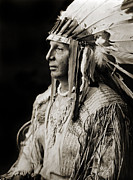 Edward Curtis Prints - Native American Arikara White Shield Print by The  Vault
