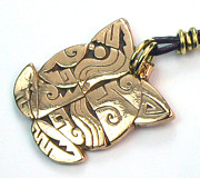 Charm Ring Jewelry - Native American Bronze Turtle Pendant or Key Ring Amulet by Virginia Vivier