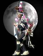 Lakota People Framed Prints - Native American Dancer 2 Framed Print by Greg Sigrist