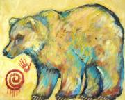 Indian Posters - Native American Indian Bear Poster by Carol Suzanne Niebuhr