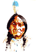Travel Photography Painting Prints - Native American Indian Print by Steven Ponsford