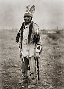Edward Curtis Framed Prints - Native American Klamath Man Framed Print by The  Vault